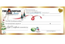 Gift Certificate Designer Gift Certificates Fire Mountain Gems And Beads