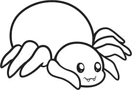 Small Picture Halloween Spider Creepy Crawly Coloring Page Animal Cute