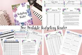 Free Printable Budget Free Printable Budgeting Binder