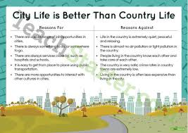 city life essay persuasive texts writing task city life is better than country