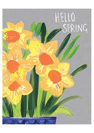 Spring Photo Cards Daffodils Hello Spring Card