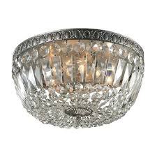 crystal flushmount chandelier antique