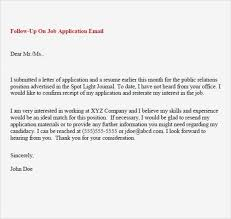 Follow Up Email Job Letter After Interview No Response Inspirationa