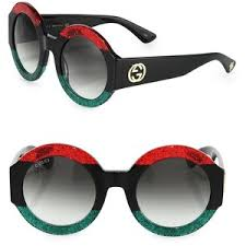 gucci sunglasses. gucci 51mm oversized round colorblock sunglasses 3