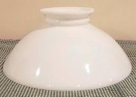 milk glass lamp shade fitter opal white milk glass student oil kerosene lamp shade fits milk