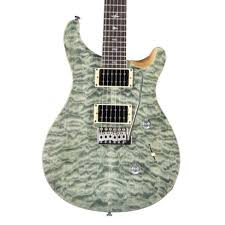 PRS SE Custom 24 Quilt Top Electric Guitar, Trampas Green at ... & PRS SE Custom 24 Quilt Top Electric Guitar, Trampas Green Adamdwight.com