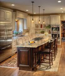 Traditional Island Style Cream kitchen, cabinets, Stefanie Ciak, Other