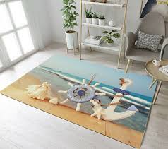 floor rug mat beach nautical rudder anchor bedroom carpet living room area rugs