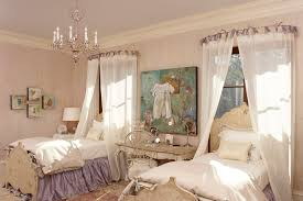 shabby chic purple pink chandelier bedroom distressed furniture sanded down romantic interior decor better decorating