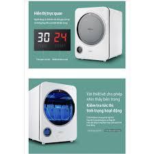 MÁY TIỆT TRÙNG SẤY KHÔ BÌNH SỮA HAENIM BASIC UV LED (HAENIM 3G LED) 9 BÓNG  ĐÈN LED - Máy tiệt trùng bình sữa