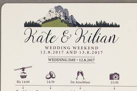 Wedding Timeline Kampenwand Mountain German Wedding Weekend Timeline Card 11