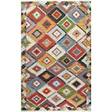 hand woven abstract fancy wool area rug caravan car