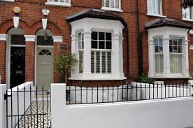 Small Picture white painted wall and railings front garden Pinterest Paint
