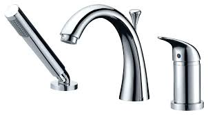 roman bathtub faucet installation den series single handle with shower wand in polished chrome bathtub faucets
