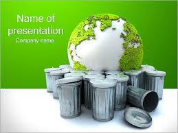 Green Recycling Powerpoint Template Infographics Slides
