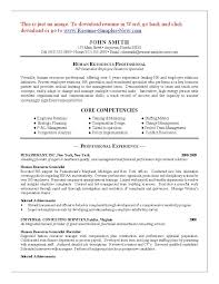 Entry Level Human Resources Resume Proyectoportal Com