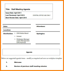 sample agendas for staff meetings 7 staff meeting agenda samples phoenix officeaz