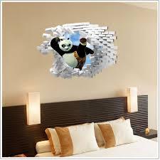 Cartoon Kungfu Panda 3d Wall Sticker Home Decor Kids Bedroom Wallpaper