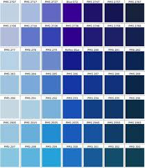 Blue Color Swatch Chart Real Access Promotional Products Creative Business Pms