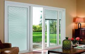 impressive sliding glass doors with blinds between glass with french patio doors with blinds between glass