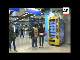 A Vending Machine Dispenses Coffee Into Classy A Chinese Entrepreneur Has Developed A Vending Machine That