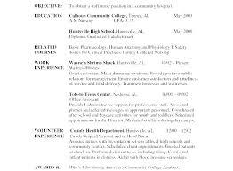 Nursing Student Resume Sample Sample Resume For Nursing Vitadance Me