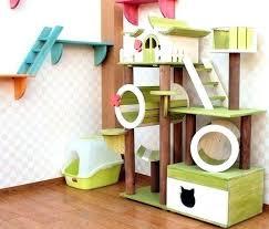 Diy cat playhouse Furniture Cat Playground Artprint Indoor Cat Playground Diy The Ultimate Kitty Artprint