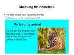 Essay my favorite animal