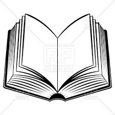 simple open book vector image vector artwork of objects dvarg 7362