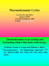 Thermodynamics Cycles Lectures 1_2_Chapter 1   Thermodynamics   Entropy