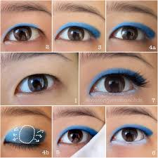 monolid make up tutorial sailor mercury inspired wearable eye makeup