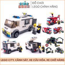 Đồ chơi lego city cảnh sát, xe cứu hỏa, đồ chơi xếp hình trí tuệ nhiều chi  tiết, chất liệu nhựa ABS an toàn cho bé tại Hà Nội