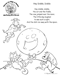 Small Picture Nursery Rhymes Coloring Pages