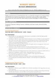 Account Administrator Resume Samples Qwikresume