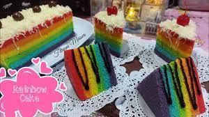 Yuk kita coba cara membuat rainbow cake. Membuat Rainbow Cake Irit Bahan Tanpa Santan Youtube