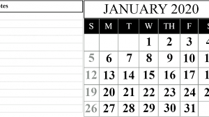 Chinese Calendar January 2020 25 Best Fillable Calendar For January 2020 Printable