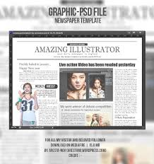 Newspaper Template Illustrator Psd File Newspaper Template Aresta Novin