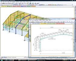 portal frame ysis fastrak model courtesy of trimble