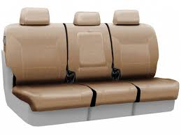 coverking beige second row leather seat covers