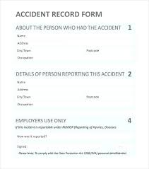 Vehicle Incident Report Template Accident Reporting Form Template