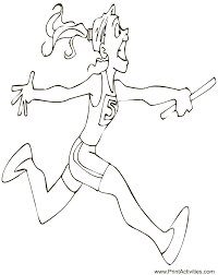 Small Picture Coloring Pages About Running Coloring Pages