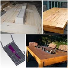 diy patio table with built in beer wine coolers home design garden architecture blog