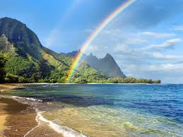 Desktop Beautiful Sea And Rainbow Beach With A Pictures Of Hd Full Beautiful Sea