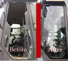 heavy construction equipment windshield