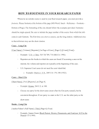 sample of footnotes in research paper examples of footnotes in an essay