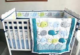 infant crib bedding set solid navy