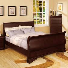 Furniture of America Laurelle Dark Cherry Sleigh Bed