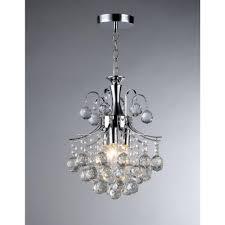 Arden Victorian 3 Light Crystal Chrome Chandelier Warehouse Of Tiffany Arden Victorian 3 Light Crystal Chrome