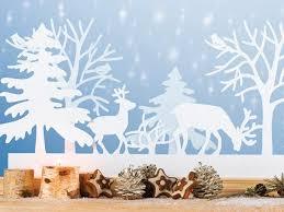 Im Winterwald Fensterbilder Weihnachten Basteln