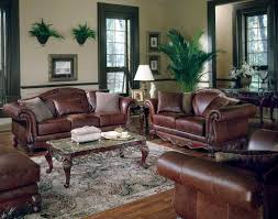 Classic home decor with brown leather sofa quecasita for Decorating with  brown leather sofa .